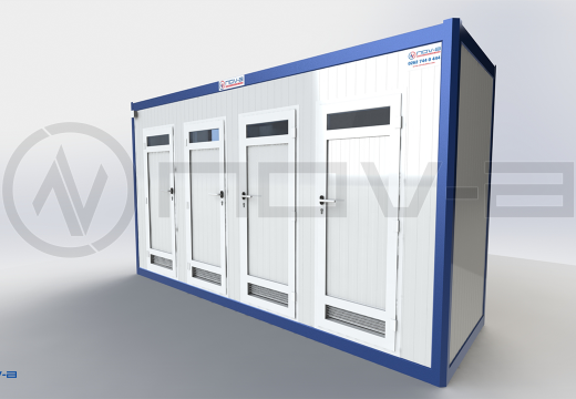 130X410 WC-DUS PANEL KABIN